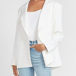 Supersoft Oversized Double Breasted Peak Lapel Blazer | Express