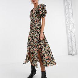 Topshop grunge midi dress in floral print   ASOS (Global)