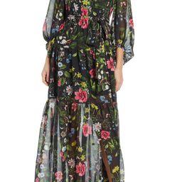 Surplice Backless Maxi Dress   Nordstrom