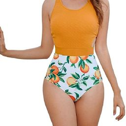 MOLYBELL One Piece Swimsuits for Women High Waisted Bathing Suit Monokini Floral Print Cutout Rac...   Amazon (US)