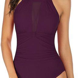 TcIFE Women's One Piece Swimsuits Tummy Control Swimwear Flattering High Waisted Monokini Bathing...   Amazon (US)