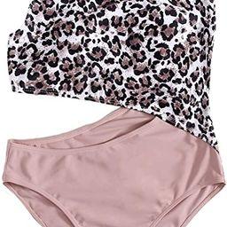SweatyRocks Women's Bathing Suits One Shoulder Cutout One Piece Swimsuit Swimwear Monokini   Amazon (US)
