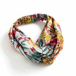 Floral Print Turban Headband   SHEIN