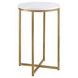 "16"" X Base Glam Round Side Table - Saracina Home | Target"