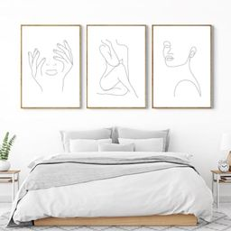 Set Of 3 Line Drawing A4 A3  art print Poster Quote | Etsy | Etsy (UK)