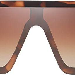 JIM HALO Flat Top Shield Sunglasses Square Mirror Rimless Glasses for Women Men | Amazon (US)
