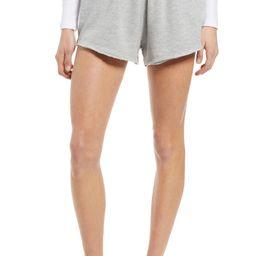 Raw Edge Cotton Blend Knit Shorts | Nordstrom
