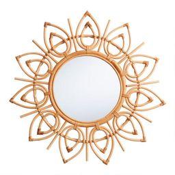 Round Natural Rattan Solstice Mirror | World Market