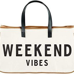 """Creative Brands D3712 Hold Everything Tote Bag, 20"""" x 11"""", Weekend Vibes 
