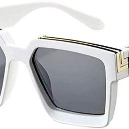 PAMIX Millionaire Sunglasses Oversized Unisex Trendy Retro Square 100% UVA/UVB Protection | Amazon (US)