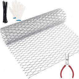 Chicken Wire Fence, Chicken Wire for Craft, Floral Chicken Wire, Chicken Wite Galvanized Hexagona... | Amazon (US)