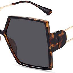 STORYCOAST Oversized Square Sunglasses for Women Fashion Large Shield Shades UV400 Protection | Amazon (US)