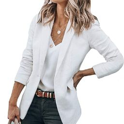 Cicy Bell Womens Casual Blazers Open Front Long Sleeve Work Office Jackets Blazer   Amazon (US)