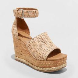 Women's Julianna Cork Wedge Heels - Universal Thread™   Target