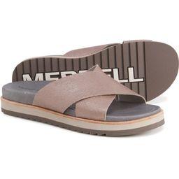 Merrell Juno Slide Sandals - Leather (For Women) | Sierra