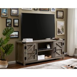 Wampat Farmhouse Barn Door Wood TV Stands for 65 Inch Flat Screen, TV Console Storage Cabinet, Ru...   Walmart (US)