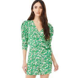 Scoop Women's Puff Sleeve Romper | Walmart (US)