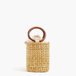 Straw bucket bag   J.Crew Factory