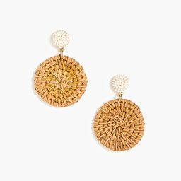 Bead and rattan statement earrings   J.Crew Factory