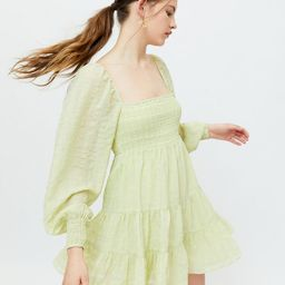 UO River Smocked Long Sleeve Mini Dress   Urban Outfitters (US and RoW)