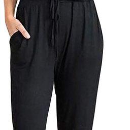 PRETTYGARDEN Women's Summer Casual Deep V Neck Short Sleeve Wrap Drawstring Waist Jumpsuit Romper... | Amazon (US)