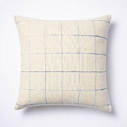 Windowpane Throw Pillow Cream/Blue - Threshold™ designed with Studio McGee | Target