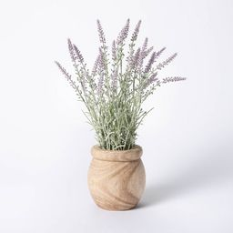 """15"""" x 8"""" Artificial Lavender Plant in Pot - Threshold™ designed with Studio McGee   Target"""