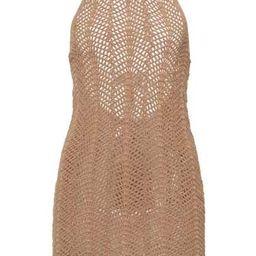 Noelie Crocheted Cotton Halterneck Mini Dress | Moda Operandi (Global)