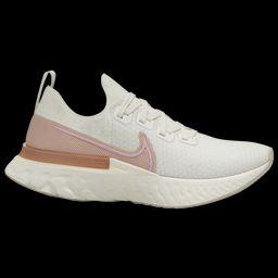 Nike React Infinity Run Flyknit - Women's Running Shoes - Sail / Light Arctic Pink / Metallic Copper | Eastbay
