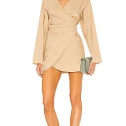 Song of Style Fifi Mini Dress in Sand Beige from Revolve.com | Revolve Clothing (Global)