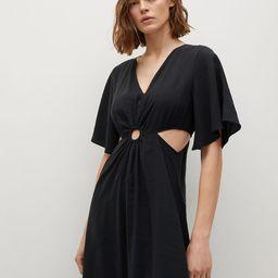 Side slit dress | MANGO (US)