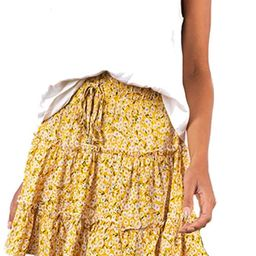 VNDFLAG Women's Summer High Waist Ruffle Tiered Mini Skirt Floral Printed A-line Polka Dot Beach ...   Amazon (US)
