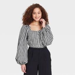 Women's Balloon Long Sleeve Bardot Top - Who What Wear™ | Target