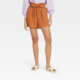 Women's High-Rise Paperbag Shorts - A New Day™   Target