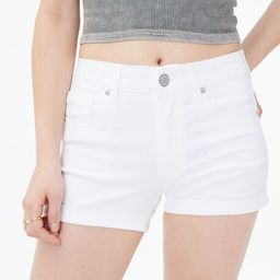 Seriously Stretchy High-Rise Denim Midi Shorts   Aeropostale