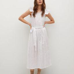 Textured cotton dress   MANGO (US)