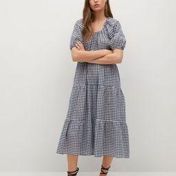 Check pattern midi dress   MANGO (US)