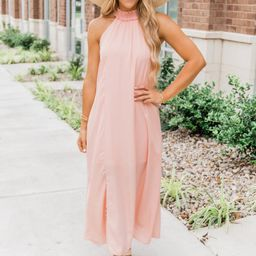 A Lady Like You Maxi Dress Peach FINAL SALE | The Pink Lily Boutique