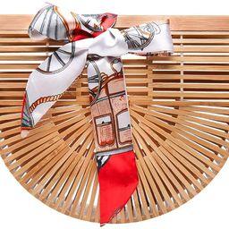Obosoyo Women's Handmade Bamboo Handbag Summer Beach Sea Tote Bag | Amazon (US)