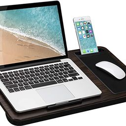 LapGear Home Office Lap Desk with Device Ledge, Mouse Pad, and Phone Holder - Espresso Woodgrain ... | Amazon (US)