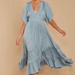 Never Austere Dusty Blue Midi Dress | Red Dress