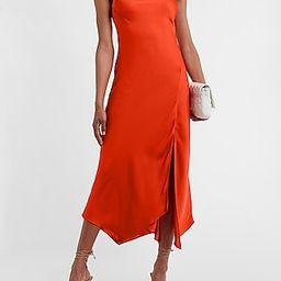 Satin Cowl Neck Maxi Slip Dress | Express