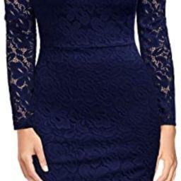 Miusol Women's Vintage Off Shoulder Flare Lace Slim Cocktail Pencil Dress | Amazon (US)