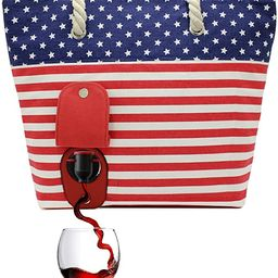 PortoVino Beach Wine Purse (USA) - Beach Tote with Hidden, Insulated Compartment, Holds 2 Bottles...   Amazon (US)