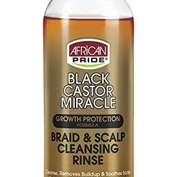 African Pride Black Castor Miracle Braid & Scalp Cleansing Rinse - Removes Hair Build Up & Soothe...   Amazon (US)