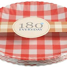 """""""What Is It?"""" Reusable Red & White Gingham Checkered Picnic / Dinner Plate, 9 Inch Melamine, Set ...   Amazon (US)"""