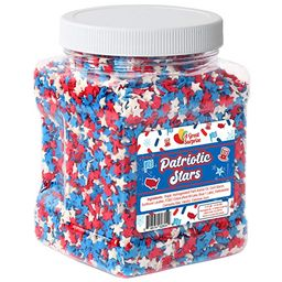 A Great Surprise Red, White, and Blue Stars - Patriotic Topping - 4th of July - Bulk Sprinkles - ...   Amazon (US)