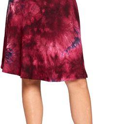 Popana Womens Casual Knee Length A-Line Stretch Midi Skirt Plus Size Made in USA | Amazon (US)