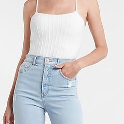 Body Contour Pleated Cropped Sweater Cami | Express