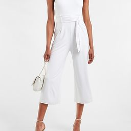 Sleeveless Belted Culotte Jumpsuit   Express